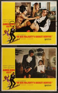 1d222 ON HER MAJESTY'S SECRET SERVICE 8 LCs 1969 George Lazenby's only appearance as James Bond!