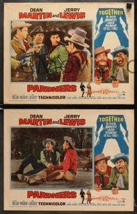 1d223 PARDNERS 8 LCs R1965 great full-length image of cowboys Jerry Lewis & Dean Martin!