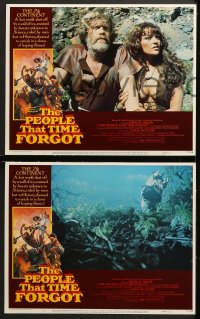 1d226 PEOPLE THAT TIME FORGOT 8 LCs 1977 Edgar Rice Burroughs, a lost continent shut off by ice!
