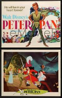 1d018 PETER PAN 9 LCs R1969 Walt Disney animated cartoon fantasy classic, great images!