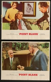 1d230 POINT BLANK 8 LCs 1967 cool images of Lee Marvin, Angie Dickinson, John Boorman film noir!