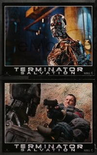 1d003 TERMINATOR SALVATION 12 LCs 2009 Christian Bale, Sam Worthington, cool sci-fi images!