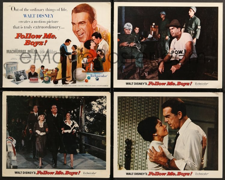Emovieposter Com 1d016 Follow Me Boys 9 Lcs 1966 Fred Macmurray
