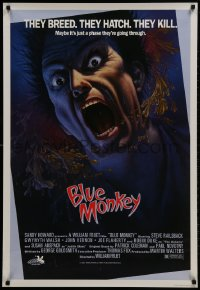 1f033 BLUE MONKEY Canadian 1sh 1987 they breed, they hatch, they kill, great art by Jim Warren