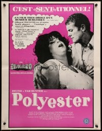 1f032 POLYESTER Canadian 1981 John Waters, Divine, Tab Hunter, filmed in Odorama!