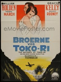 1f004 BRIDGES AT TOKO-RI Danish 1958 Grace Kelly, William Holden, Korean War, great art!