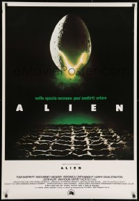 1f874 ALIEN Italian 1sh R1980s Ridley Scott outer space sci-fi monster classic, cool egg image!