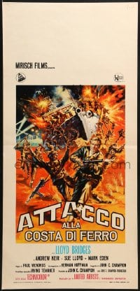 1f882 ATTACK ON THE IRON COAST Italian locandina 1968 Lloyd Bridges turns ship into a bomb!