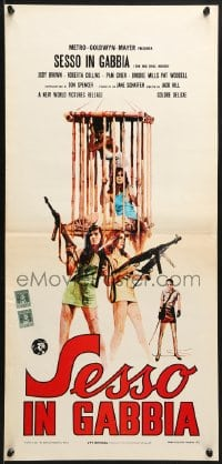 1f884 BIG DOLL HOUSE Italian locandina 1972 girls whose bodies were caged, not their desires!