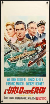 1f888 BRIDGES AT TOKO-RI Italian locandina R1960s Grace Kelly, William Holden, different Casaro art!