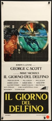 1f892 DAY OF THE DOLPHIN Italian locandina 1973 George C. Scott, Mike Nichols, dolphin assassin!