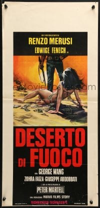 1f893 DESERT OF FIRE Italian locandina 1971 art of sexy Edwige Fenech in bikini covered in cash!