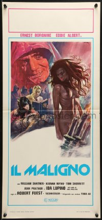 1f894 DEVIL'S RAIN Italian locandina 1977 art of stars in Satanic ritual w/naked girl by Sciotti!