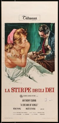 1f898 DREAM OF KINGS Italian locandina 1970 different art of Anthony Quinn & topless Inger Stevens!