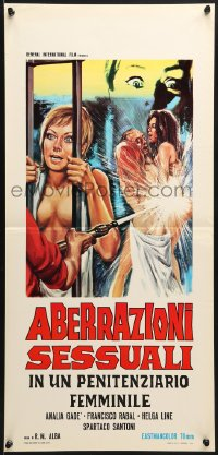 1f900 EXORCISM'S DAUGHTER Italian locandina 1973 wild art of sexy naked women caged like animals!