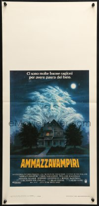 1f902 FRIGHT NIGHT Italian locandina 1986 Sarandon, McDowall, best classic horror art by Peter Mueller!