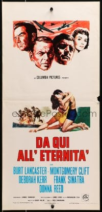 1f903 FROM HERE TO ETERNITY Italian locandina R1960s Lancaster, Sinatra & Clift, different artwork!