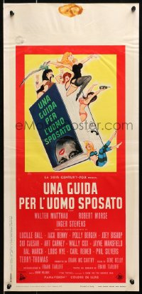 1f908 GUIDE FOR THE MARRIED MAN Italian locandina 1967 written by America's most famous swingers!