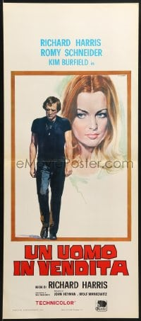 1f909 HERO Italian locandina 1972 art of Richard Harris and sexy Romy Schneider by Casaro!