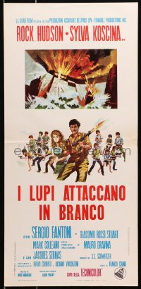 1f910 HORNETS' NEST Italian locandina 1970 Rock Hudson, Sylva Koscina & teens with guns!