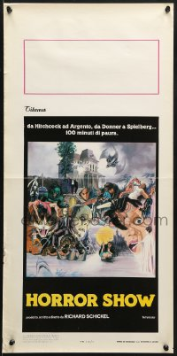 1f911 HORROR SHOW Italian locandina 1980 Lugosi, Hitchcock, Karloff, Chris Lee, & more by Scott!