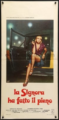 1f915 IT'S A SIN... BUT I LIKE IT Italian locandina 1978 sexy smoking Carmen Villani, Fiorenzi art!