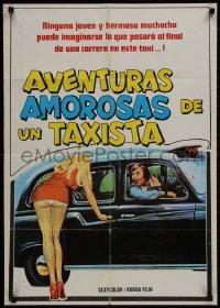 1f009 ADVENTURES OF A TAXI DRIVER South American 1976 Barry Evans, Judy Geeson, sexy wacky artwork!