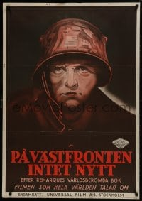1f038 ALL QUIET ON THE WESTERN FRONT Swedish 1930 Lew Ayres in a story of blood, guts and tears!