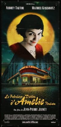 1f012 AMELIE Swiss 2001 Jean-Pierre Jeunet, great close up of Audrey Tautou!