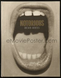 1j320 NOTORIOUS signed hardcover book 1992 by author/photographer Herb Ritts, full-page images!
