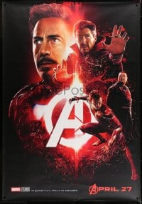 1k062 AVENGERS: INFINITY WAR set of 5 special wilding posters 2018 Robert Downey Jr., ultra rare!