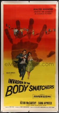 1m013 INVASION OF THE BODY SNATCHERS linen 3sh 1956 classic horror, the ultimate in science-fiction!
