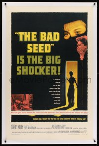 1m070 BAD SEED linen 1sh 1956 the big shocker about really bad terrifying little Patty McCormack!