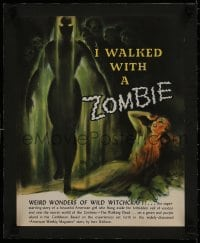 1m030 I WALKED WITH A ZOMBIE linen campaign book page 1943 cool completely different art!