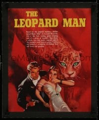 1m032 LEOPARD MAN linen campaign book page 1943 Jacques Tourneur, Val Lewton, completely different!