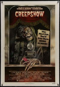 1m080 CREEPSHOW linen 1sh 1982 George Romero & Stephen King's tribute to E.C. Comics, Joann art!