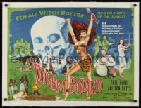 1m050 DISEMBODIED linen 1/2sh 1957 artwork of super sexy female voodoo witch doctor Allison Hayes!