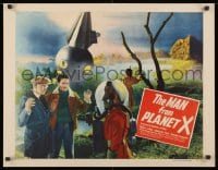 1m002 MAN FROM PLANET X style A 1/2sh 1951 Edgar Ulmer, different image of alien & men by ship, rare!