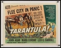1m059 TARANTULA linen style B 1/2sh 1955 different newspaper art w/ huge spider monster, very rare!