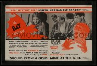 1m024 BAT WHISPERS linen trade ad 1930 different images of Chester Morris & Una Merkel!