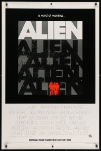 1p104 ALIEN teaser 1sh 1979 Ridley Scott classic, a word of warning, rare & different image!