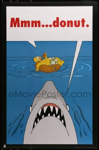 1p050 SIMPSONS 27x35 commercial poster 2005 completely wacky Jaws parody art w/ Homer, mmm donut!