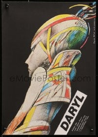 1p194 DARYL Czech 11x16 1988 cool different art of government-created android by Petr Pos!