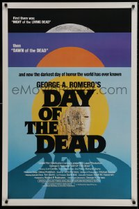 1p112 DAY OF THE DEAD 1sh 1985 George Romero's Night of the Living Dead zombie horror sequel!