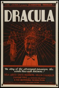 1p027 DRACULA S2 Re-Creation 1sh 1999 Tod Browning, most classic vampire Bela Lugosi, best horror!