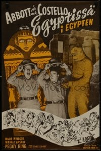 1p164 ABBOTT & COSTELLO MEET THE MUMMY Finnish 1955 Bud & Lou are back in their mummy's arms!