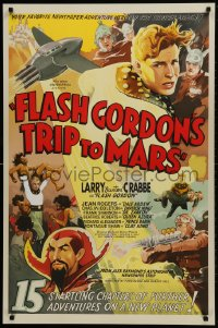 1p034 FLASH GORDON'S TRIP TO MARS S2 Re-Creation 1sh 2001 great art of Buster Crabbe, Ming & others!