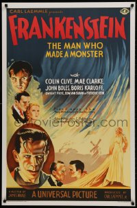 1p026 FRANKENSTEIN S2 Re-Creation 1sh 2000 the historic first Boris Karloff movie, wonderful art!