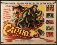 1p057 CALTIKI THE IMMORTAL MONSTER 1/2sh 1960 Caltiki - il monstro immortale, cool art of creature!