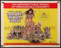 1p058 CREATURES THE WORLD FORGOT 1/2sh 1971 they don't make sexy babes like Julie Ege anymore!